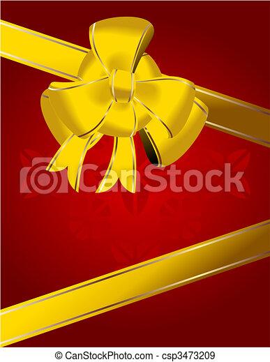 Christmas bow decoration - csp3473209