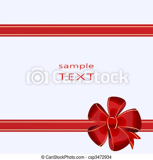 Christmas bow decoration on box - csp3472934