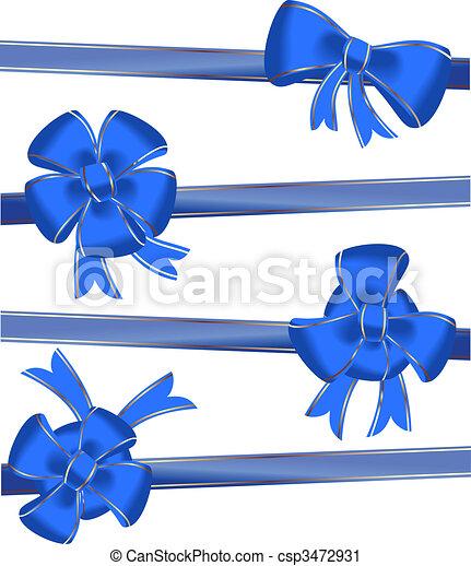 Christmas bow decoration - csp3472931