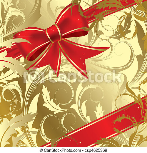 Christmas bow - csp4625369