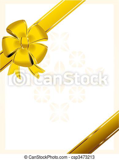 Christmas bow - csp3473213