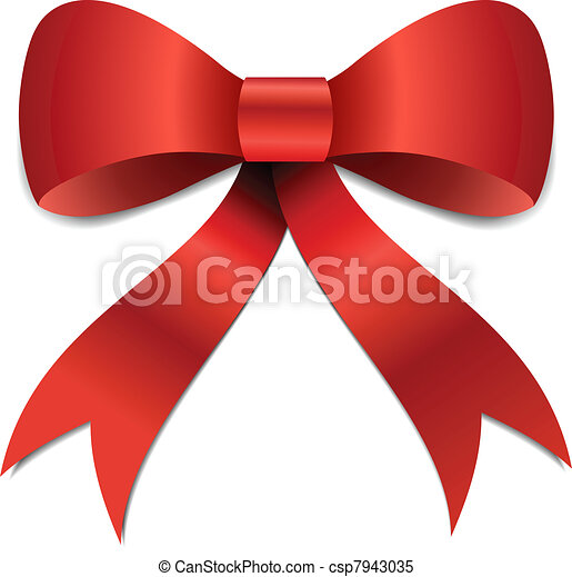 christmas bow illustration big red christmas bow illustration with rh canstockphoto com red christmas bow clip art christmas box clip art