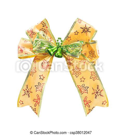 Christmas Bow isolated on white background - csp38012047