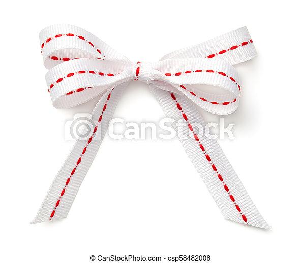Christmas Bow Isolated on White Background - csp58482008