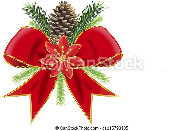 christmas bow - csp15793105