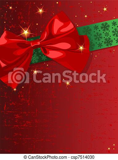 Christmas bow - csp7514030