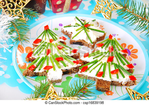 christmas breakfast for child - csp16839198