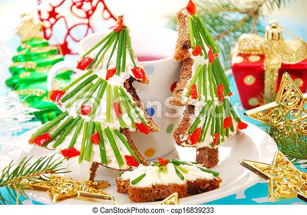 christmas breakfast for child - csp16839233