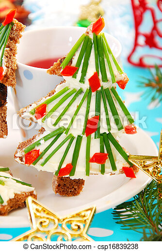 christmas breakfast for child - csp16839238