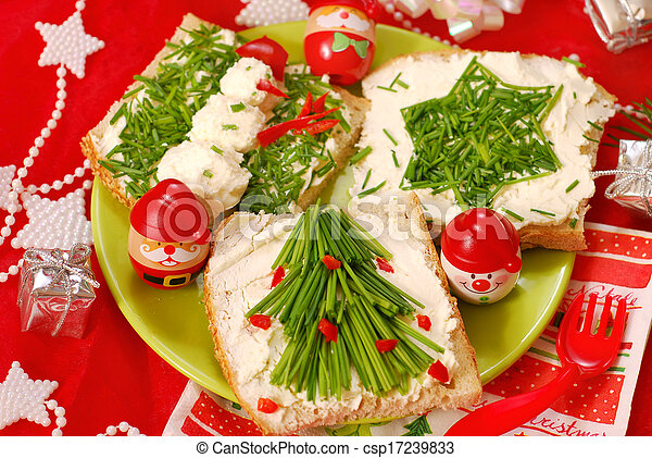 christmas breakfast for child - csp17239833