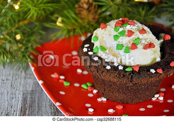 Christmas Brownie Dessert