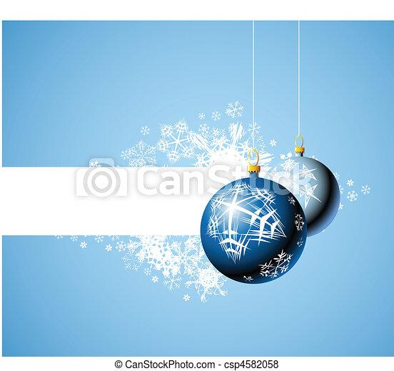 Christmas bulbs with snowflakes - csp4582058