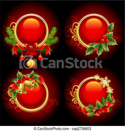 christmas buttons - csp2736603