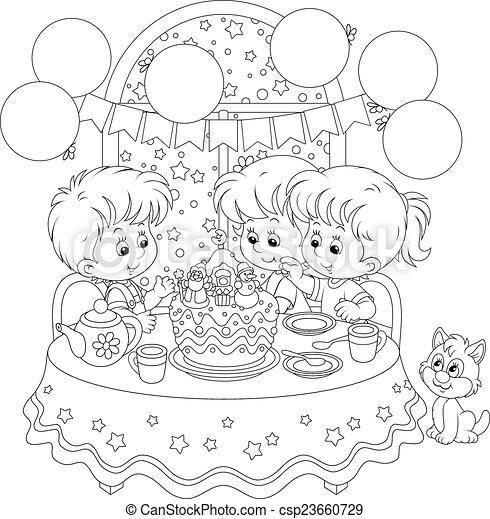 Christmas cake - csp23660729