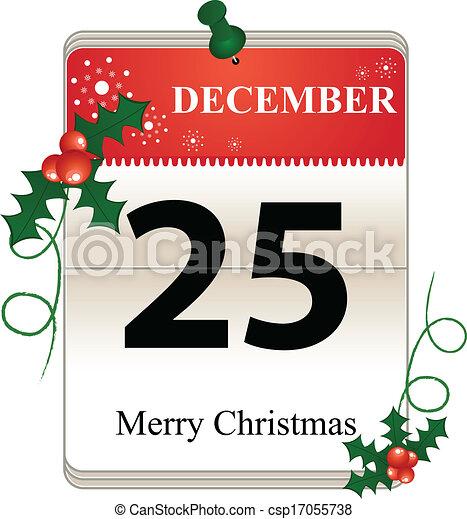 Christmas Date.Christmas Calendar Date