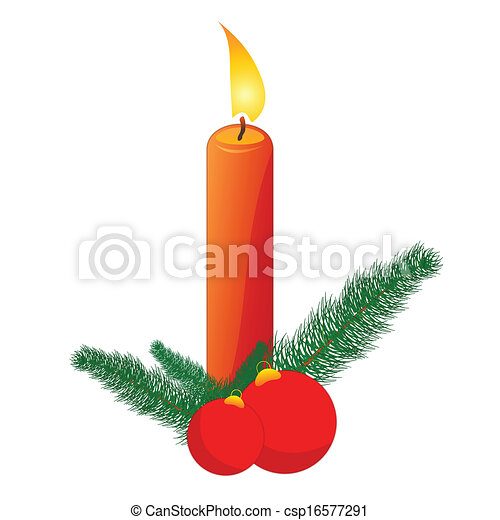Christmas Candle - csp16577291