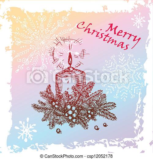 christmas candle - csp12052178