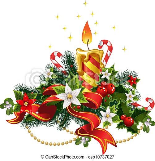 Christmas candle light - csp10737027