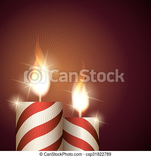 Christmas Candles Background - csp31822789