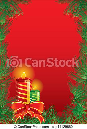 Christmas candles - csp11129660