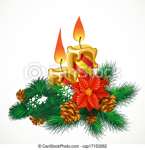 Christmas candles - csp17153262
