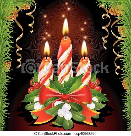 Christmas candles - csp40963290