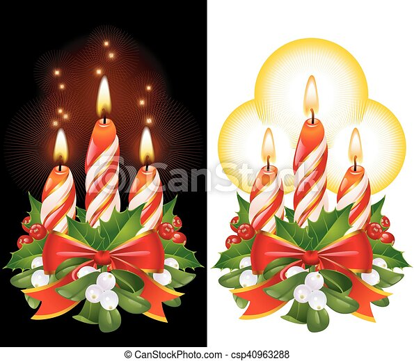 Christmas candles - csp40963288