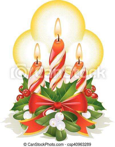 Christmas candles - csp40963289