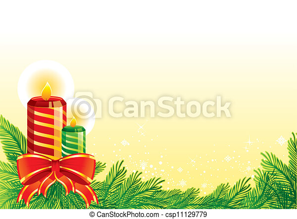 Christmas candles - csp11129779