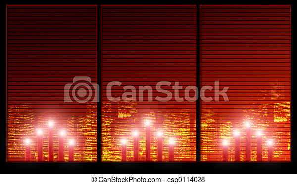 Christmas candles - csp0114028