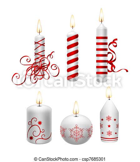 Christmas candles - csp7685301
