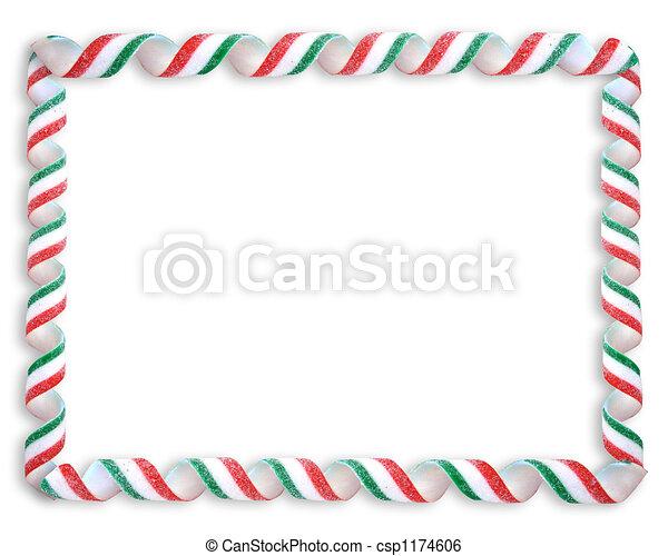 Christmas Candy Border - csp1174606