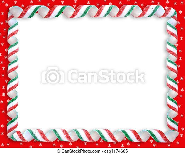 christmas candy cane border