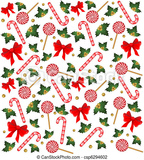 christmas candy cane decorated bow rh canstockphoto com christmas candy house clipart christmas peppermint candy clipart