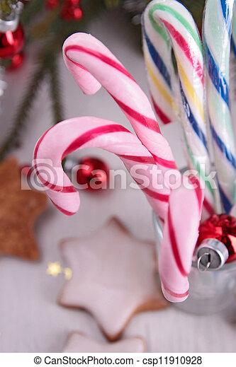 christmas candy cane - csp11910928