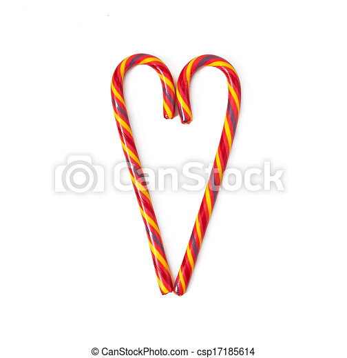 Christmas candy canes - csp17185614