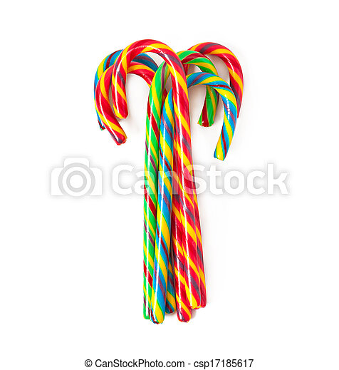 Christmas candy canes - csp17185617