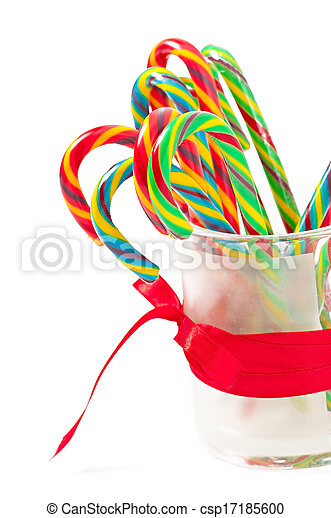 Christmas candy canes - csp17185600