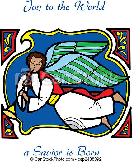 christmas card angel 3 - csp2438392