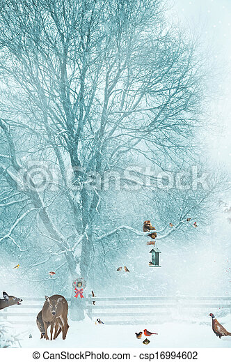 Christmas card background. - csp16994602