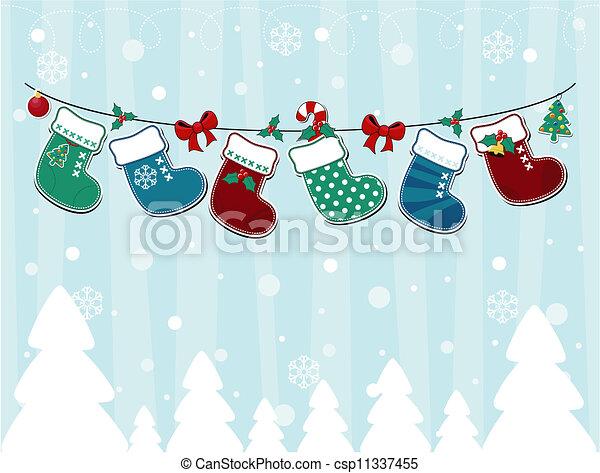 christmas card childlike - csp11337455