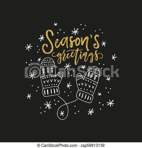 Christmas Card Design - csp59913139