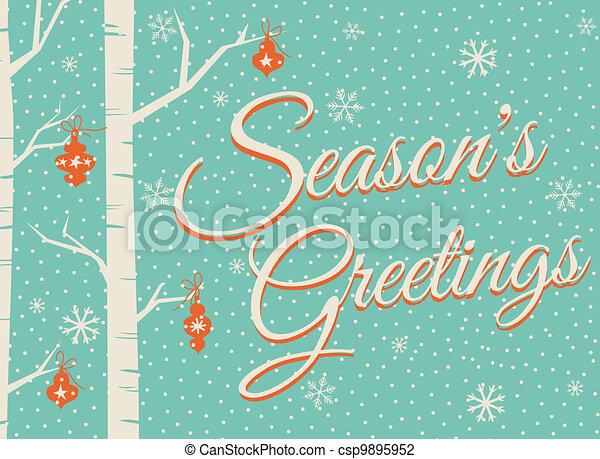 Christmas Card Design - csp9895952
