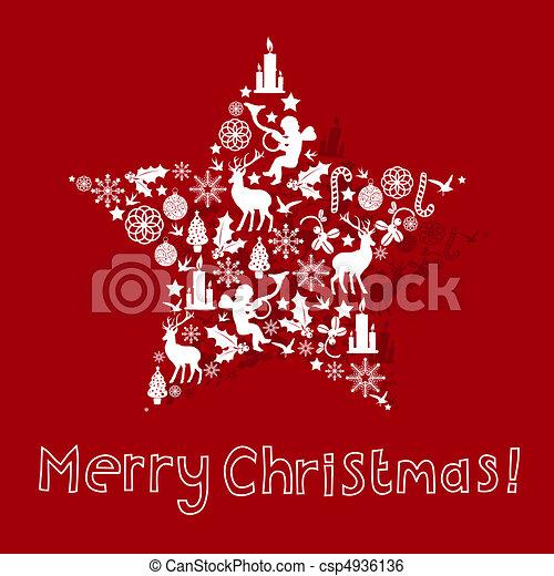 christmas card design csp4936136