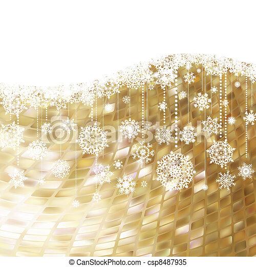 Christmas card. EPS 8 - csp8487935