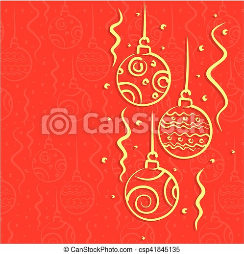 Christmas card. - csp41845135