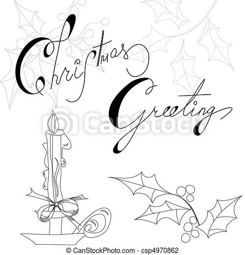 Christmas card  - csp4970862
