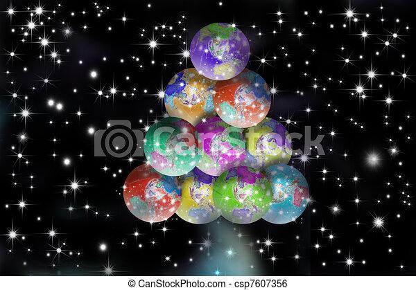 christmas card peace on earth csp7607356 - Peace On Earth Christmas Cards