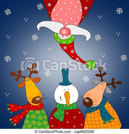 Christmas card - csp6625248