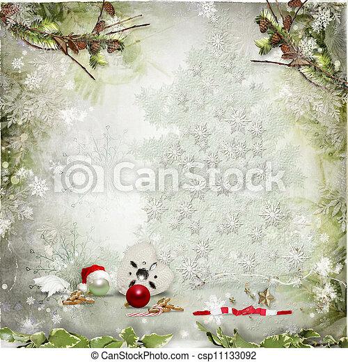 Christmas card - csp11133092